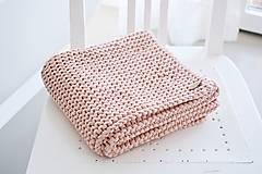 Úžitkový textil - Pletený koberček/predložka - marhuľková - 12309312_
