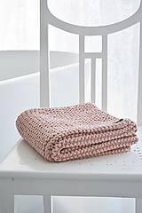 Úžitkový textil - Pletený koberček/predložka - marhuľková - 12309315_