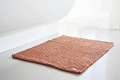 Úžitkový textil - Pletený koberček/predložka - škoricová - 12309332_