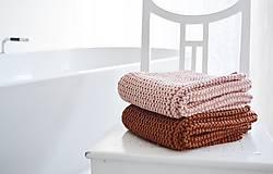 Úžitkový textil - Pletený koberček/predložka - škoricová - 12309335_