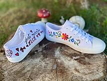 Obuv - ♥ Ručne maľované tenisky ♥ - 12311879_