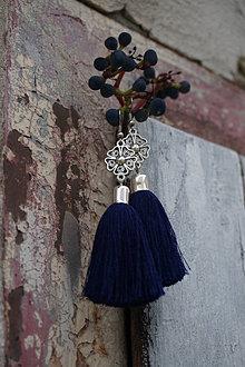 Náušnice - Náušnice tmavé modré - 12311041_