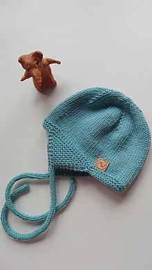 Detské čiapky - Detská čiapočka  (tyrkysová) - 12312003_