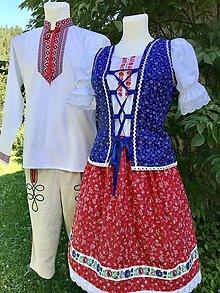 Iné oblečenie - Rodinný folklórny komplet pre mamu a otca 2 - 12311902_