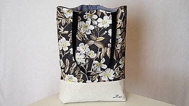 Nákupné tašky - Taška- divé ruže - 12310097_