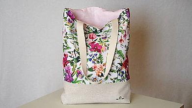 Nákupné tašky - Taška- mix farebných kvetov - 12310194_