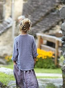 Detské oblečenie - Lněná tunika lila - 12309716_