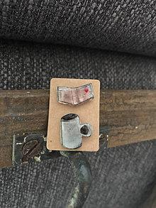 Odznaky/Brošne - Mini odznaky - káva a kniha - 12311656_