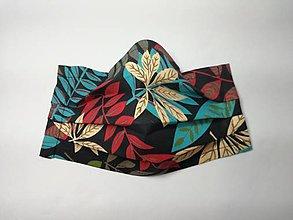 Rúška - Rúška dvojvrstvové s drôtikom,jesenné lístie - 12316110_