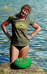 Tričká - Dámske tričko maľované ROVNOVÁHA - 12313373_