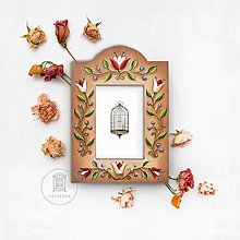 Rámiky - Maľovaný rámček - Fairy tale - 12312821_