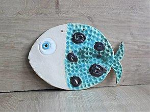 Dekorácie - Keramická Ryba - 12312483_