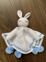 Hračky - mojkáčik - zajačik Spinúšik - v modrom - 12315921_
