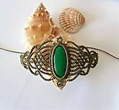 Náramky - Macramé náramok Jade - 12313563_