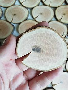 """Dekorácie - Drevené plátky s prasklinou """"ksichtíky"""" - priemer 4 - 5,5 cm - 12313930_"""