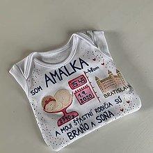 Detské oblečenie - Originálne maľované body k narodeniu bábätka (- dievčatka) - 12315990_