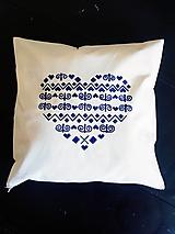 Úžitkový textil - ZĽAVA•ručne maľovaný ľudový vankúš - čičmanský vzor• - 12312570_