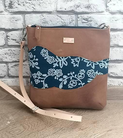 Kožená modrotlačová kabelka Dara WILD 4