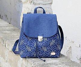Batohy - Modrotlačový batoh Martin modrý 4 - 12313368_