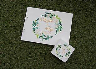 Papiernictvo - Kniha hostí, svadobná krabička/ súprava - 12313189_