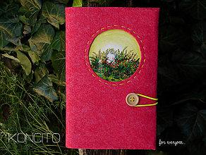 Papiernictvo - Kožuch/obal na knihu: lúčka - 12316713_