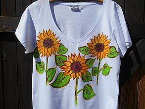 Tričká - sun flowers slnečnice-tričko-naše leto - 12316212_