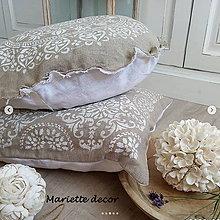Úžitkový textil - lněný povlak ve stylu BOHO 50cm, skladem kulatý - 12317699_