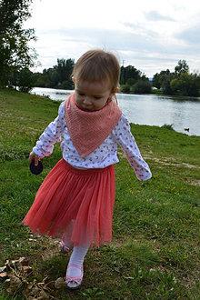Detské doplnky - Detská mušelínová šatka-marhuľová - 12317050_