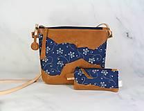 Kabelky - Modrotlačová kabelka Lea kožená 4 - 12317655_