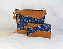 Kabelky - Modrotlačová kabelka Lea kožená 4 - 12317666_