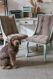 Nábytok - Sada set štyroch vintage stoličiek - 12317280_