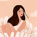 Grafika - Asterová panenka - umělecký tisk, A4 - 12318593_