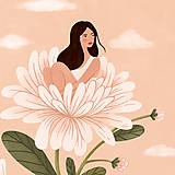 Grafika - Asterová panenka - umělecký tisk, A4 - 12318594_