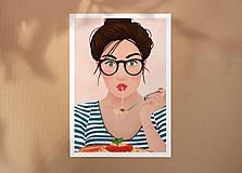 Špagety - umělecký tisk, A4