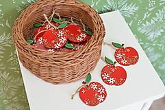 Dekorácie - Maľované jabĺčka - 12320476_