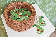 Dekorácie - Drevené hrušky - 12320501_