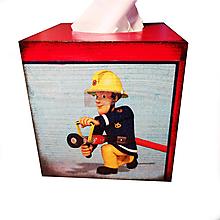 Krabičky - ZÁSOBNÍK NA VRECKOVKY kocka (POŽIARNIK SAM) - 12320336_