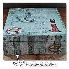 Krabičky - SPOMIENKY NA MORE krabička - 12320352_