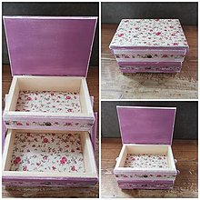 Krabičky - ROZKLADACIA skrinka na šijacie potreby - 12321728_