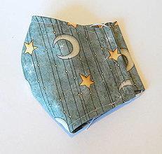 Rúška - Bavlnené rúško - Hviezdy - 2 vrstvy - 12319472_