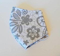 Rúška - Bavlnené rúško - 2 vrstvy Kvety 2. - 12321633_