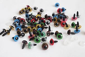 Komponenty - Bezpečnostné oči,10 mm,farebné- výpredaj - 12318797_