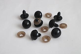 Komponenty - Bezpečnostné oči,13 mm,čierne - výpredaj - 12318855_