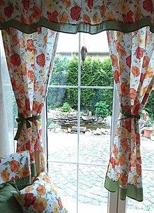 Úžitkový textil - Závesy, vankúše, obrus, obrúsky - 12320811_