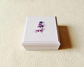 Krabičky - Drevená krabička  - 12318339_
