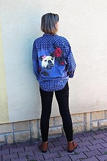 "Košele - recy-košeľa "" s buldogom"" - 12320221_"