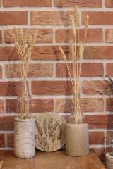 Nádoby - Uletené betónové vázičky - 12320879_
