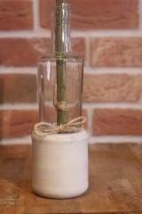 Nádoby - Uletené betónové vázičky - 12320896_