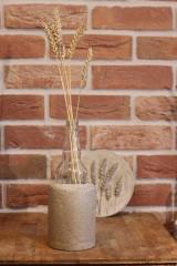 Nádoby - Uletené betónové vázičky - 12320906_