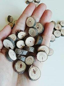 Dekorácie - Drevené plátky z tuje - očká (variant 1: cca 1,3 - 1,7 cm) - 12319518_